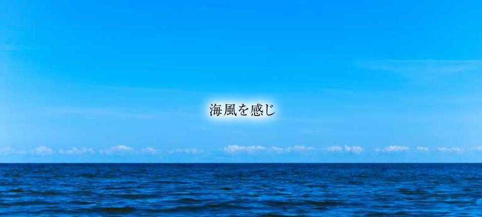 海風を感じ